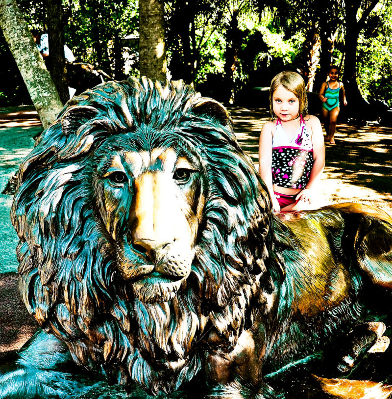 Girl with a lion