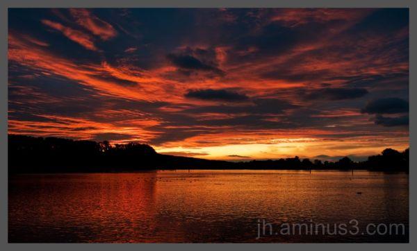 sunset over Rhein