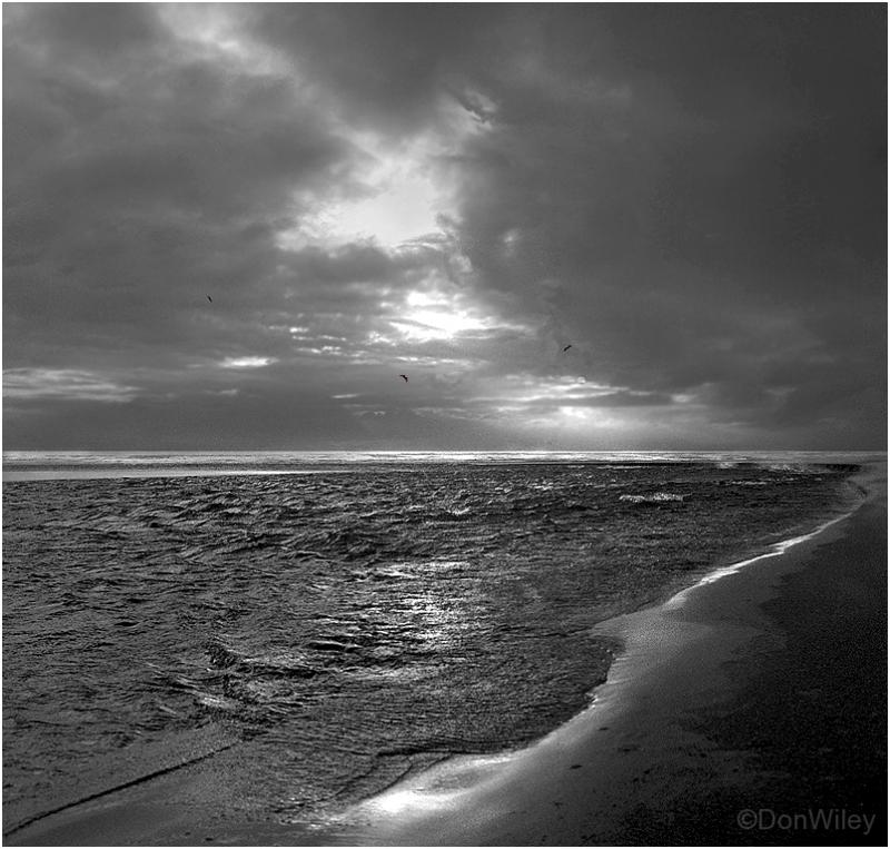Stormy sea along the coast of Oregon
