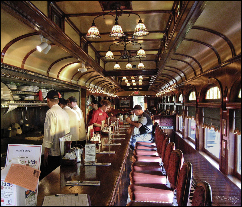 Frank's Diner - a converted railroad car