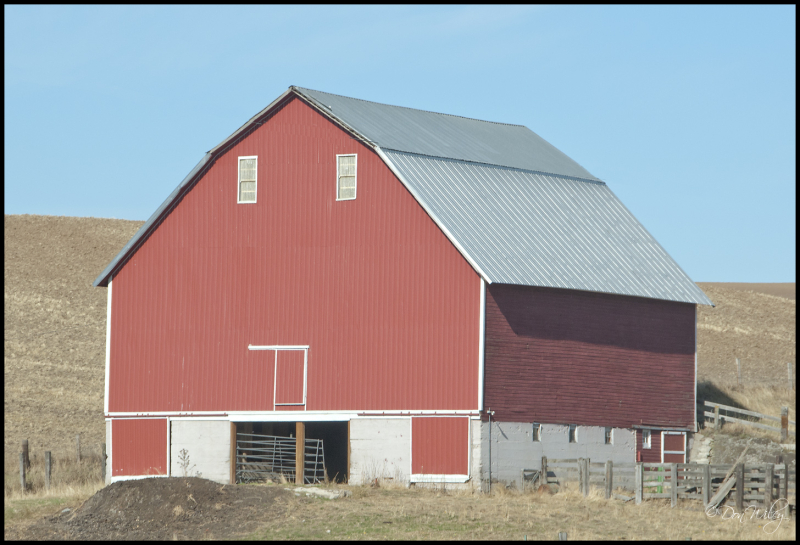 Barn with unusual doors