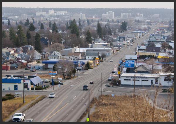 Downtown Spokane in the distance