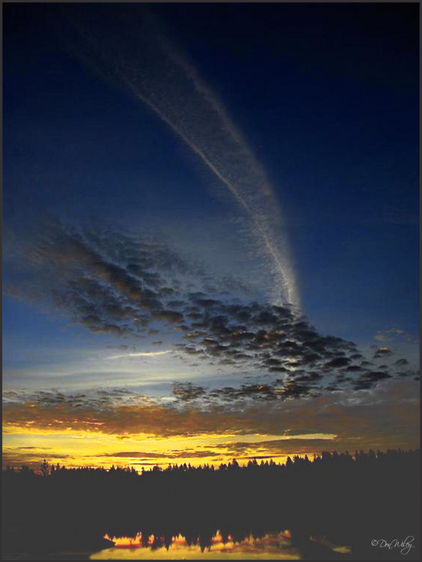 Contrail Sunrise