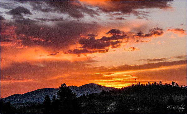 Sunrise Over Mt. Spokane