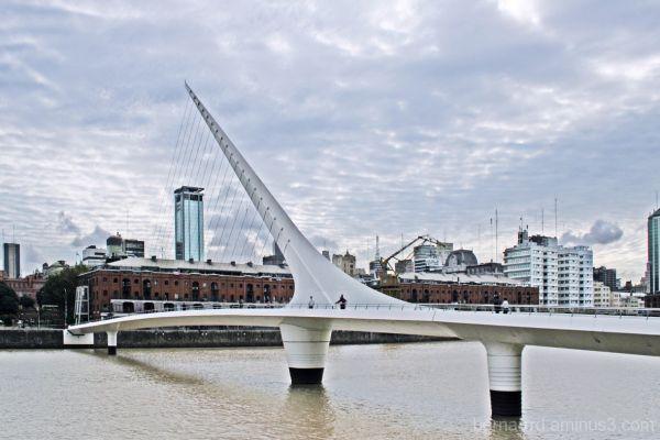 Puente de la Mujer in Puerto Madero, Buenos Aires