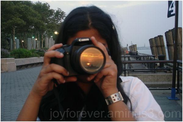 sunset battery park Canon new york reflection lens