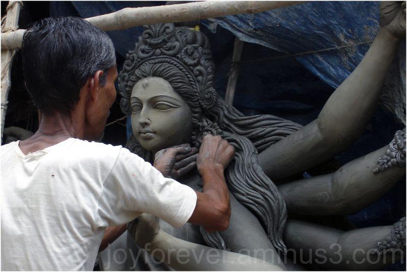 Goddess Durga idol sculpture statue Hindu Kolkata
