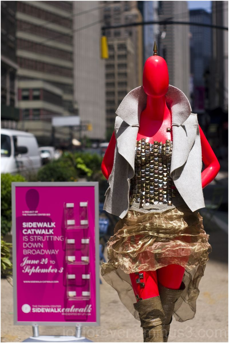 sidewalk-catwalk fashion mannequin new-york-city