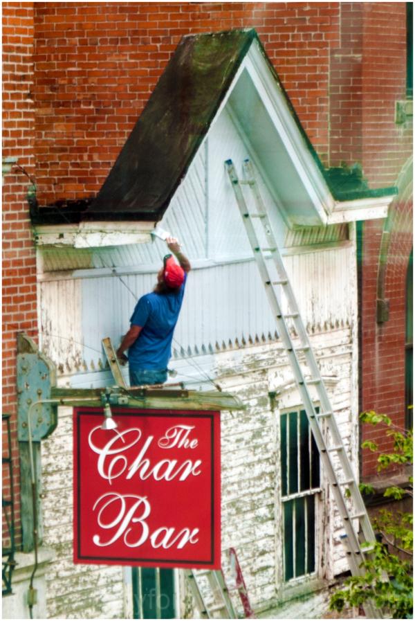 painter bar building roof wall whitewash Columbus