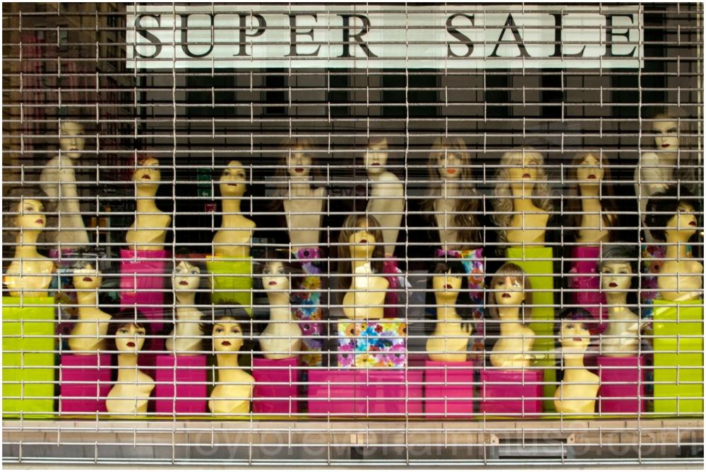 wig store mannequin sale Manhattan NYC woman hair