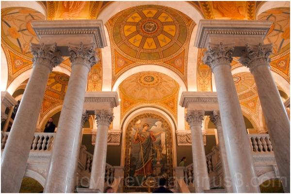 library congress washington dc ceiling arches