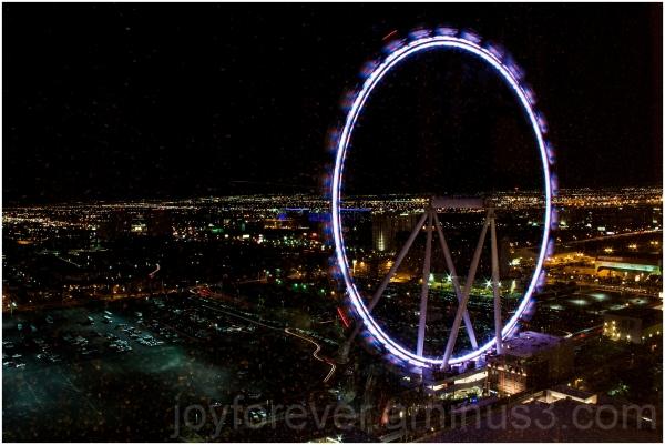 High-roller Las-vegas night Ferris-wheel night