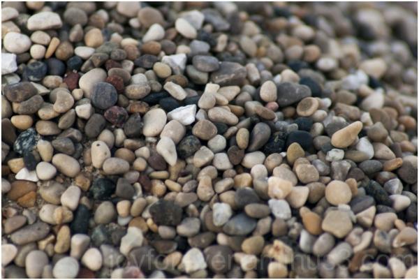 gravel stones macro sand beach