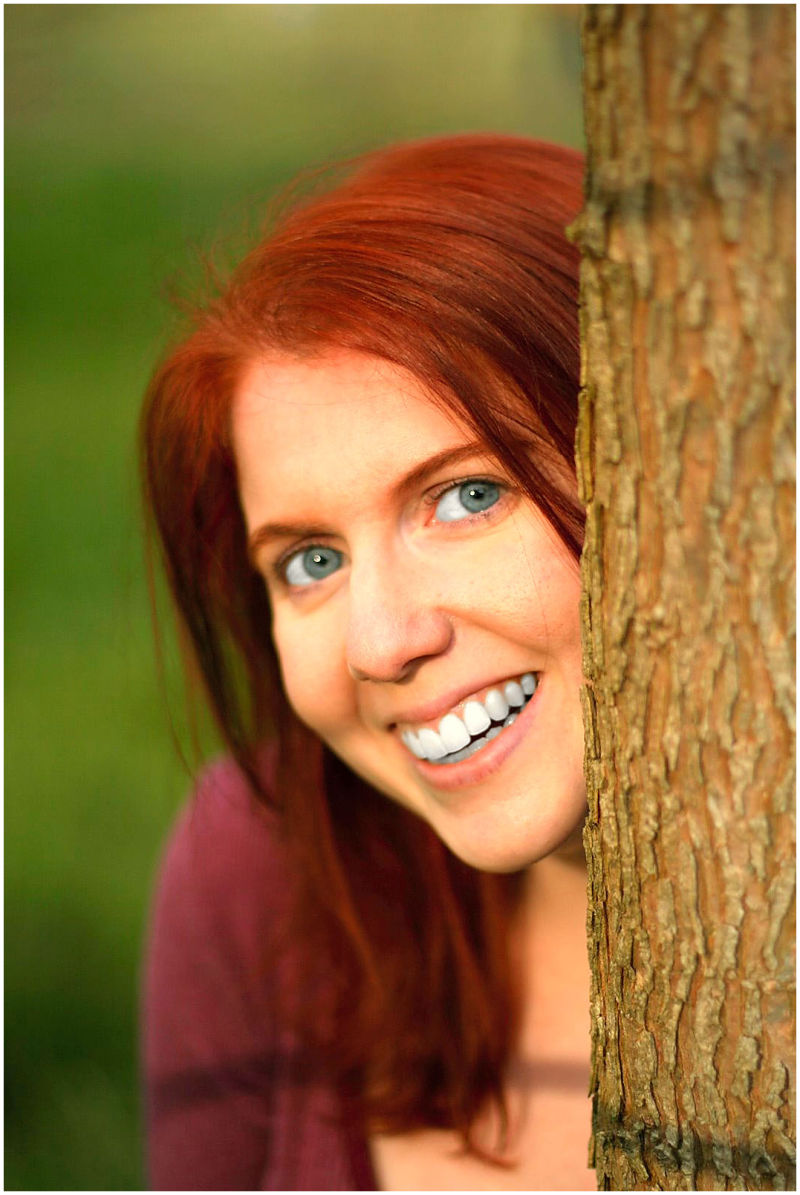 Red hair outdoor portrait