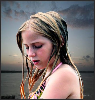 Young girl near the water