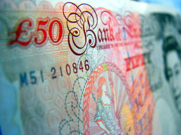 a fifty-pound note