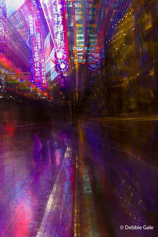 Rainy Neon Zoom Blur