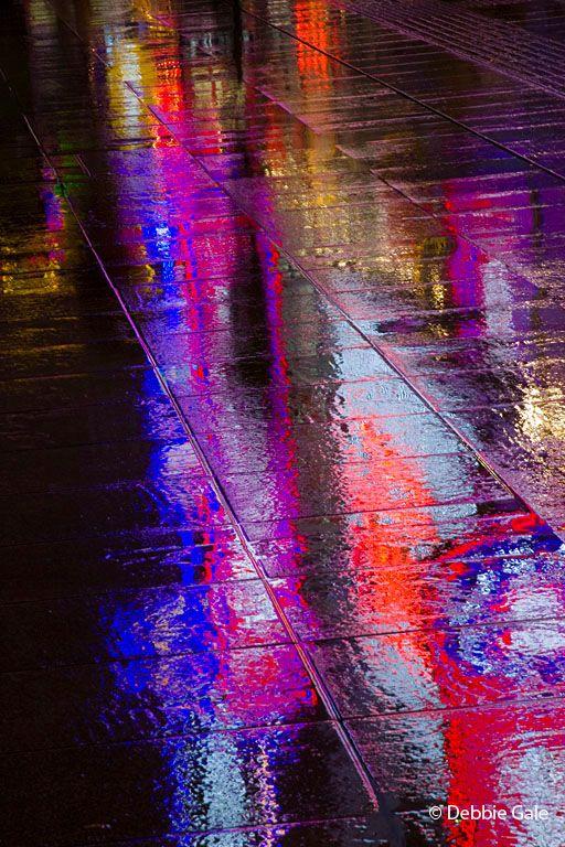 Rainy Neon Reflection