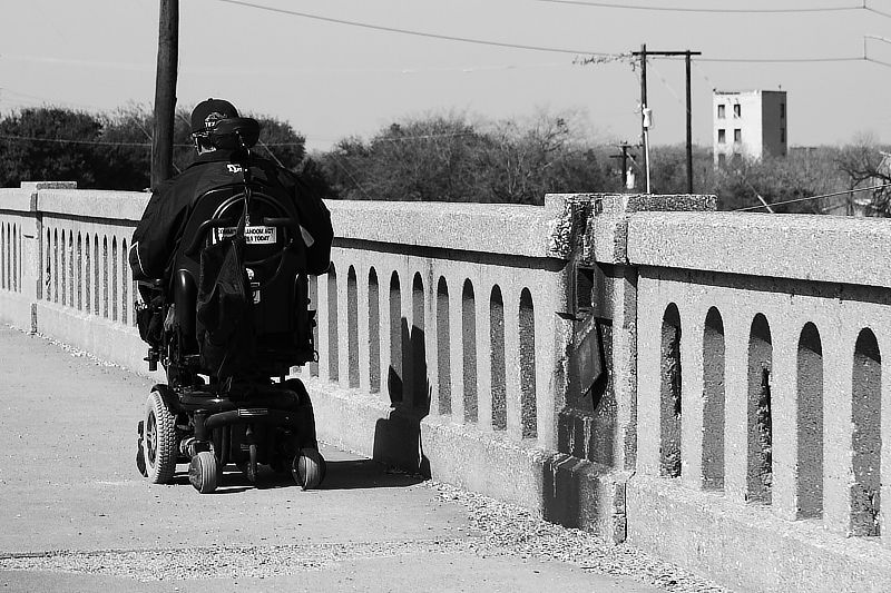 crossing Henderson street bridge in fort worth