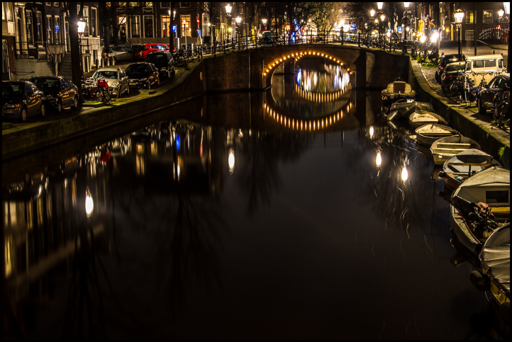Amsterdam, Canals at night