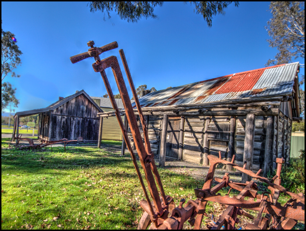 Retired Farm machinery becomes art