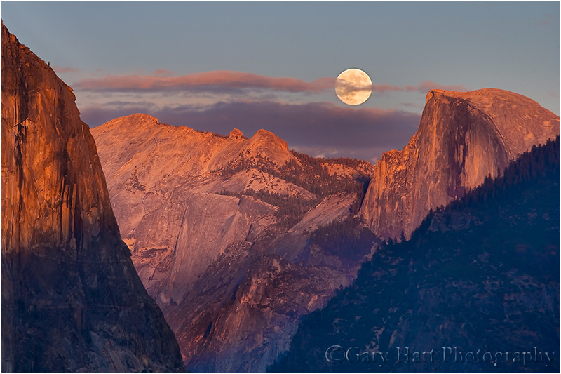 Moonrise above Half Dome, Yosemite