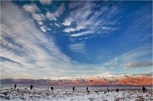 Death Valley workshop sunrise at Badwater