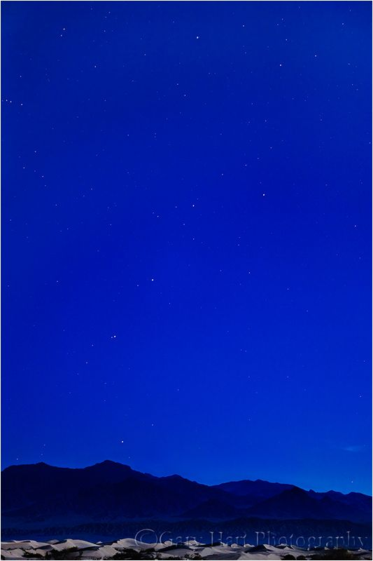 Big Dipper and Dunes by Moonlight, Death Valley