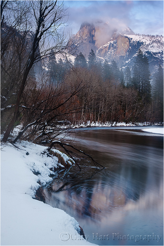 Winter, Half Dome and the Merced River, Yosemite