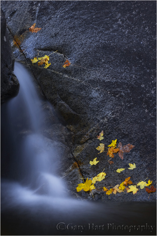 Autumn Cascade, Bridalveil Creek, Yosemite