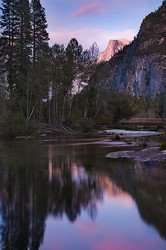 Half Dome and Sunset Reflection, Yosemite