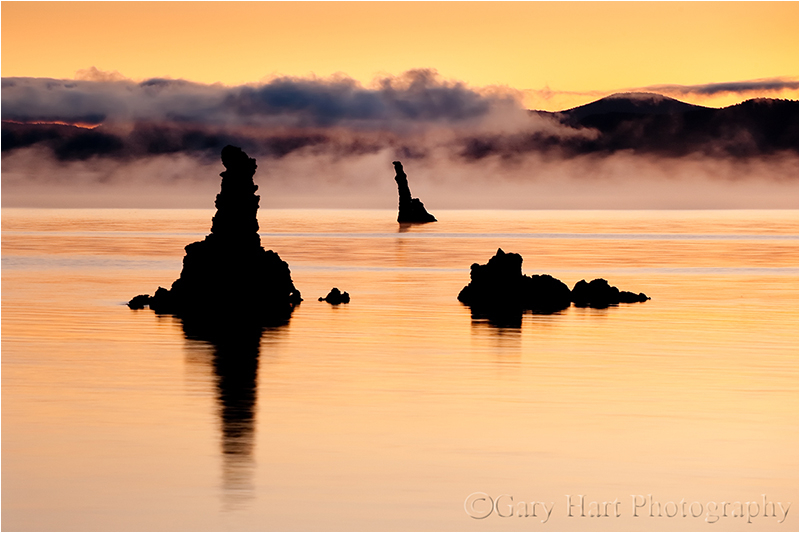 Mist on Mono Lake