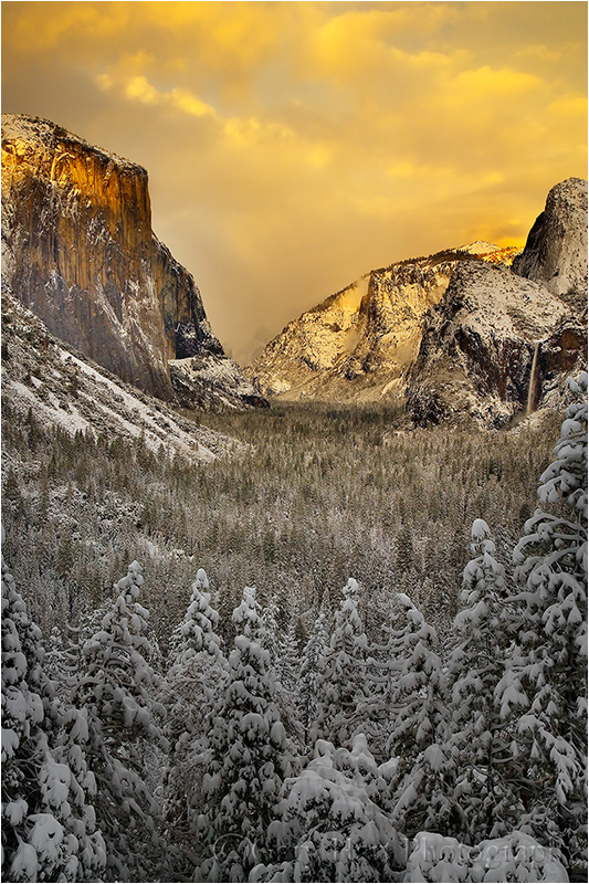 Yosemite Valley dipped in white