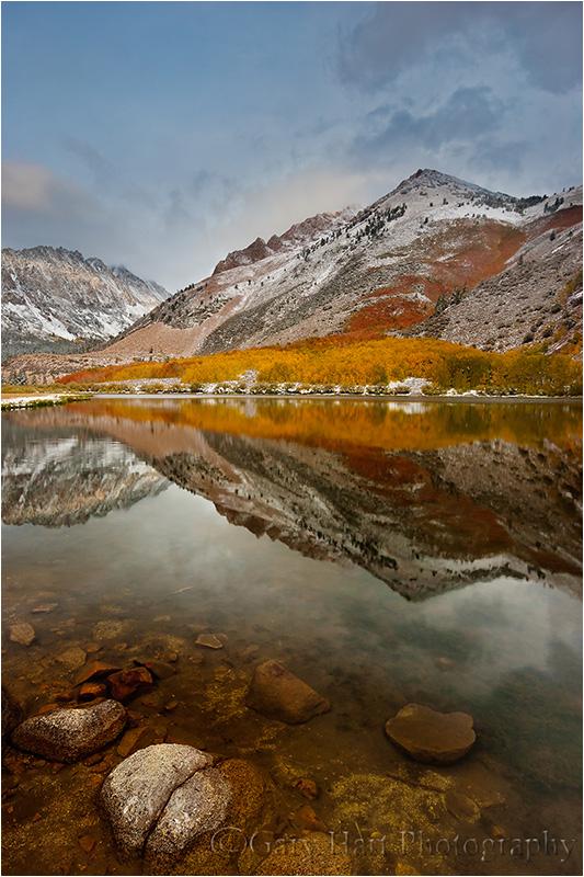 Rocks and reflection, North Lake, Eastern Sierra