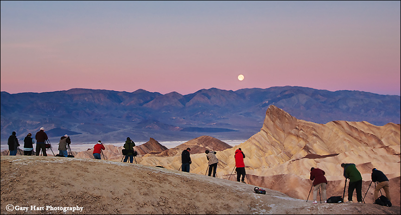 Workshop group at Zabriskie Point, Death Valley