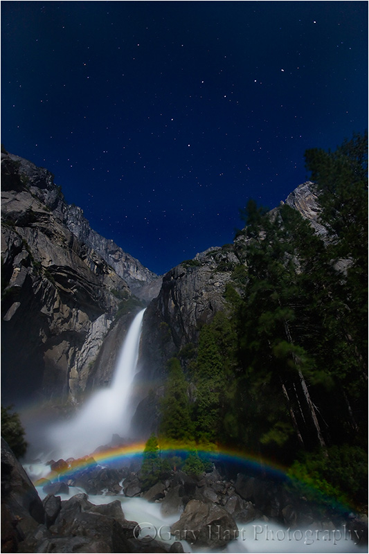 Moonbow and Big Dipper, Yosemite Fall, Yosemite