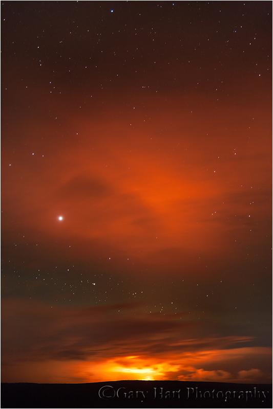Pu'u O'o Night Eruption, Kilauea, Hawaii