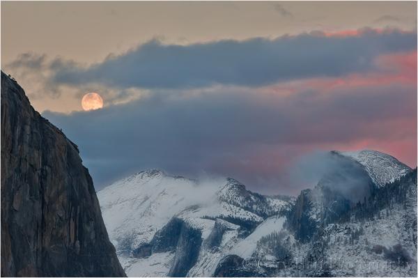Winter Moon, Yosemite