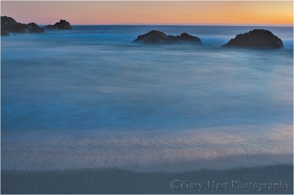Gossamer Twilight, Garrapata Beach, Big Sur