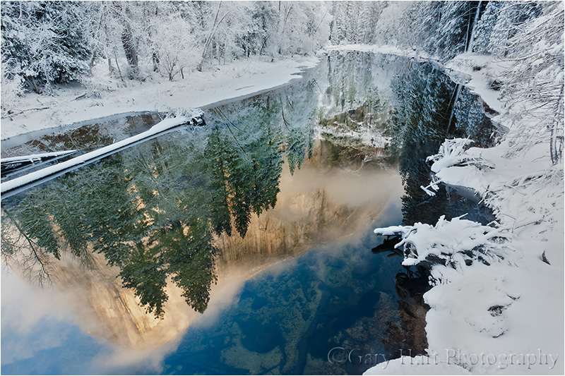Winter Reflection, El Capitan in the Merced River
