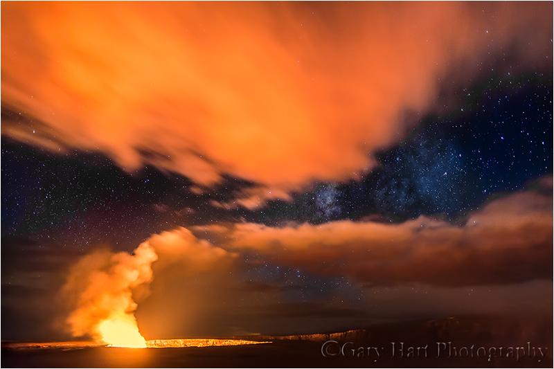 Kilauea Caldera and Milky Way, Hawaii