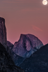 Twilight Moonrise, Half Dome, Yosemite