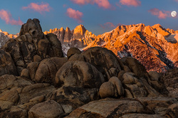 Setting Moon, Mt. Whitney & the Alabama Hills, Ca.