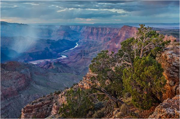 Squall at Dusk, Desert View, Grand Canyon