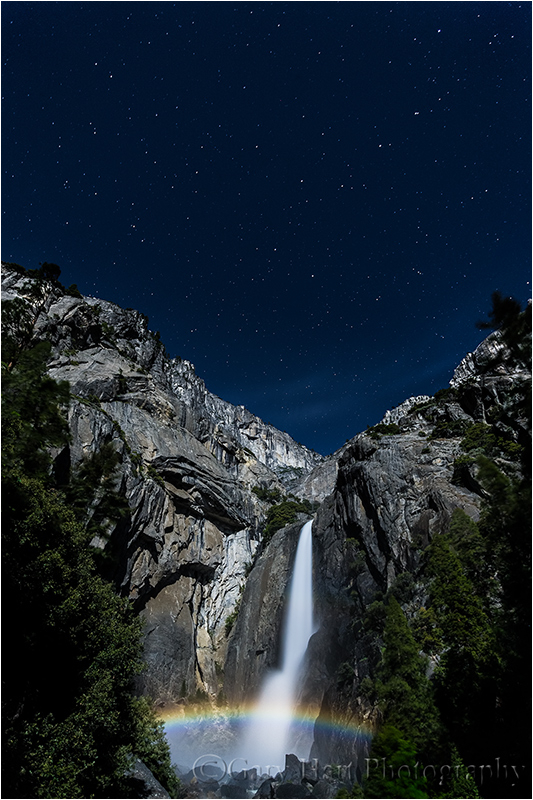 Moonbow and Big Dipper, Lower Yosemite Fall