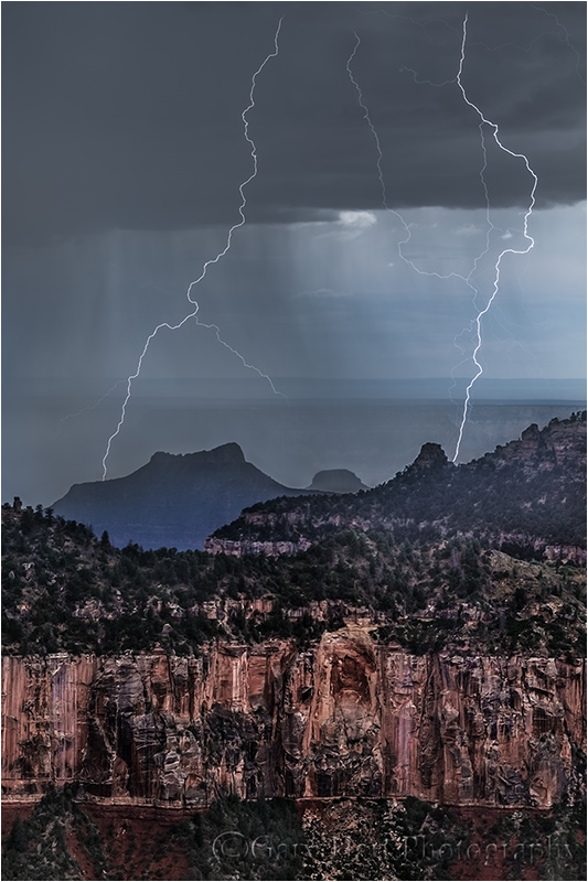 Too Close, North Rim Lightning, Grand Canyon