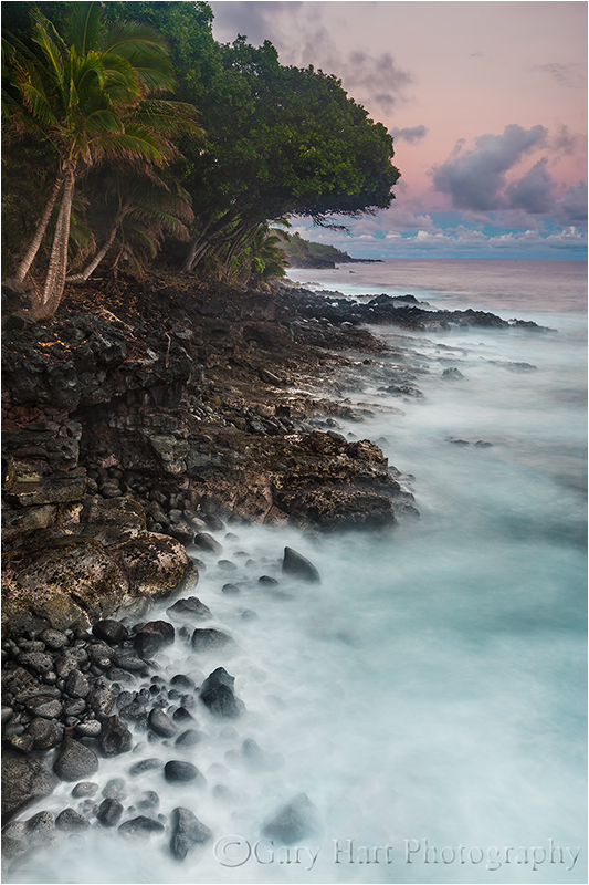 Sunset on the Rocks, Puna Coast, Hawaii