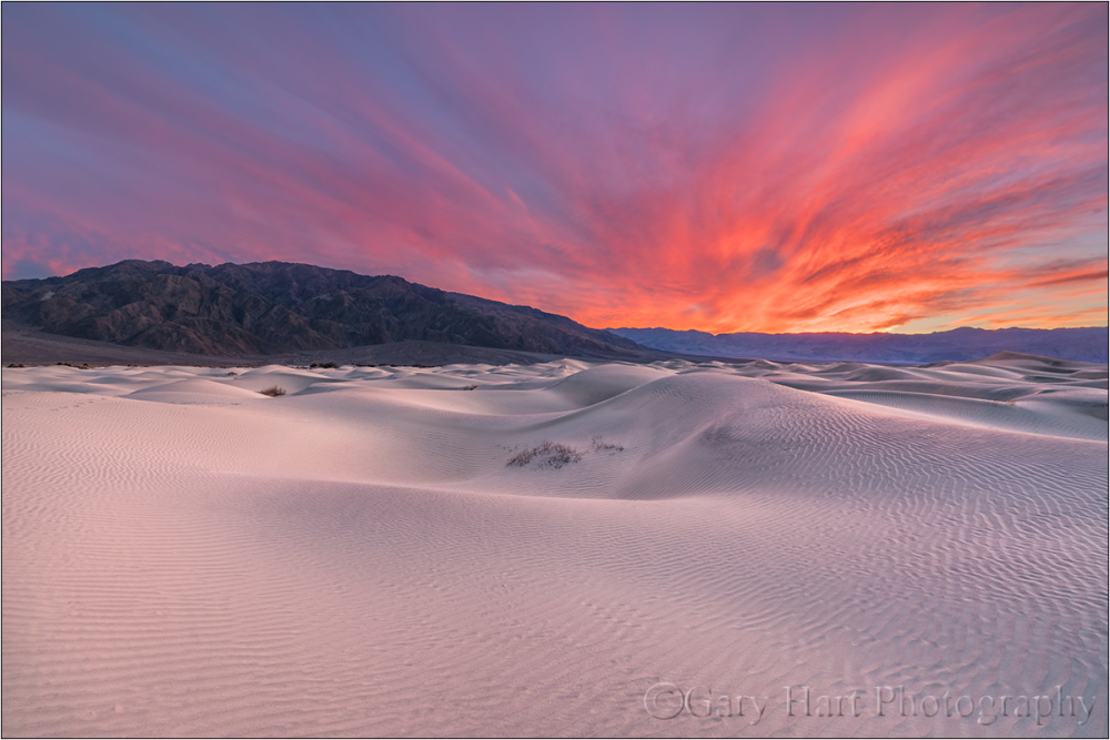 Flaming Dunes, Mesquite Flat Dunes, Death Valley