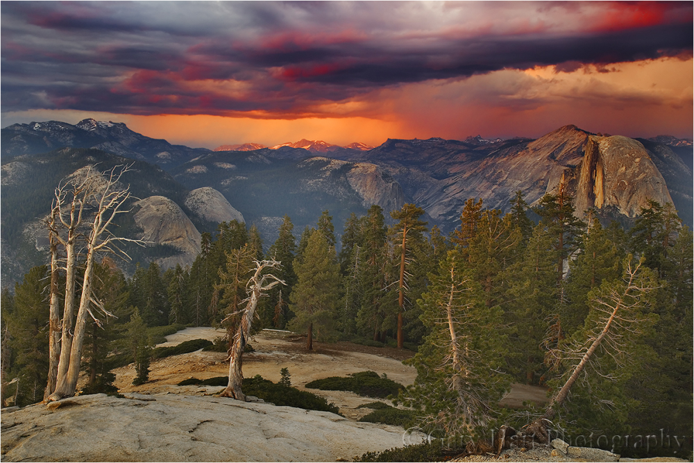 Sunset Storm,Half Dome from Sentinel Dome,Yosemite