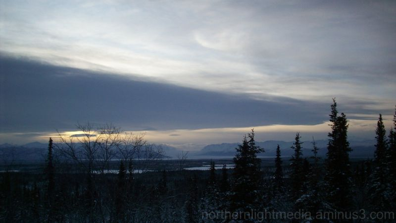 Copper Basin Alaska clouds winter snow